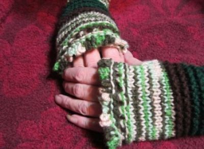 Country Calm Fingerless Mitts